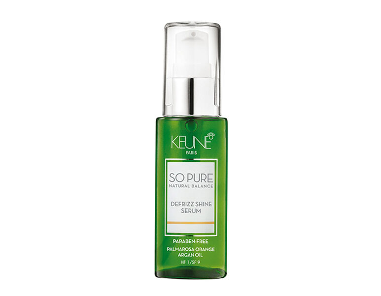 KEUNE SO PURE DEFRIZZ SHINE SERUM SERUMS SPĪDUMAM, 50ML